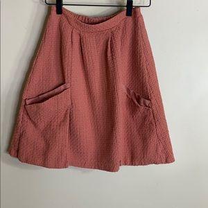 Amadi orange skirt with pockets